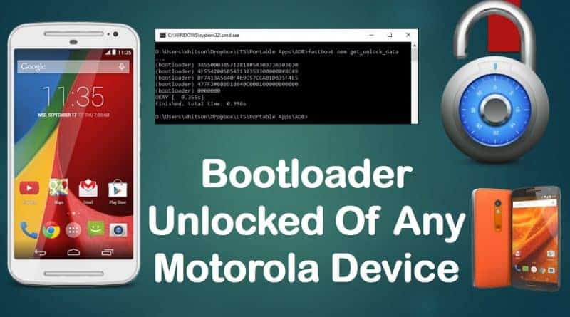 How to Unlock Bootloader of any Motorola Device using Fastboot