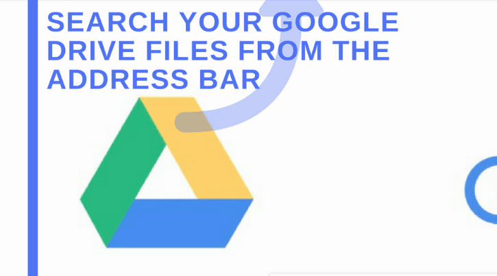 Search Google drive files from address bar (Omnibox hack)