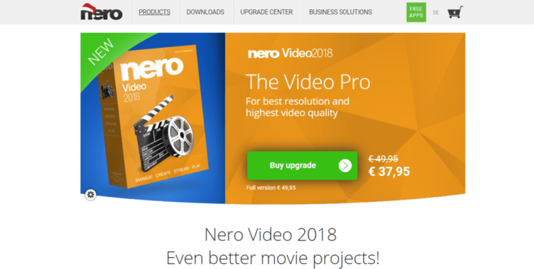 nero 10 video editing software free download