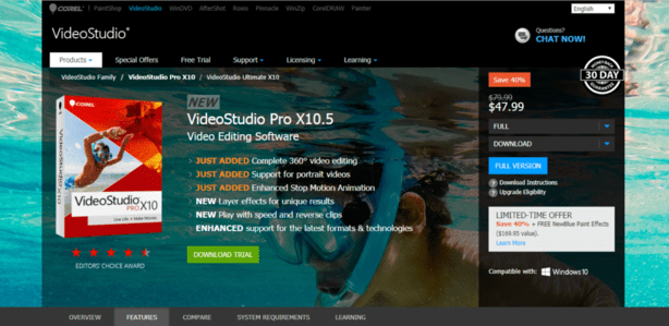 Top 10 Video Editing Software for Windows